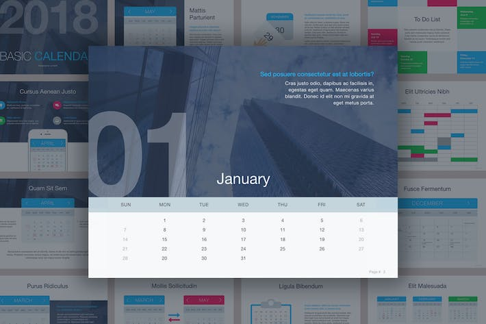 Thumbnail for Calendar Keynote Template