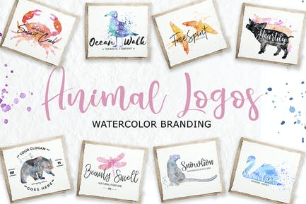 Watercolor Animal Logos