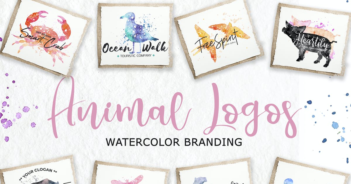Download Watercolor Animal Logos by switzergirl