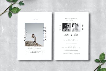 Simple Wedding Invitation 09
