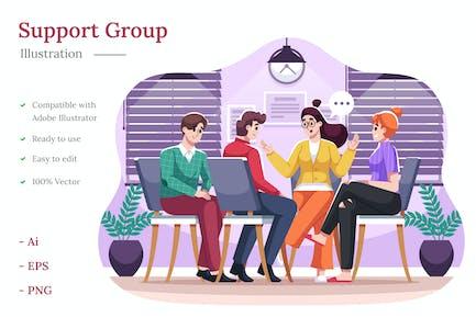 Ilustración del grupo de soporte