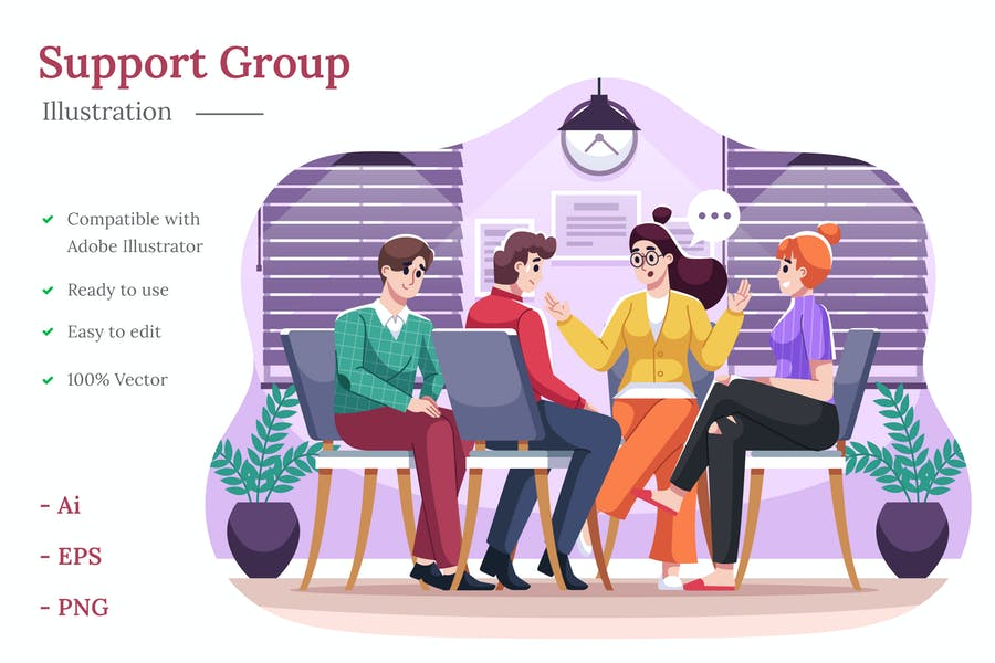 Support Group Illustration