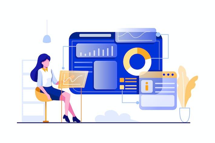 Thumbnail for The developer analyze the data of website