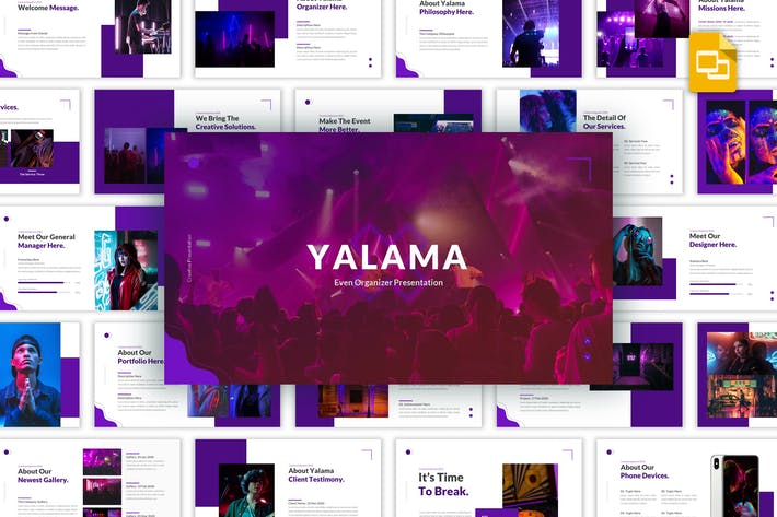 Thumbnail for Yalama - Organizer Google Slides Template