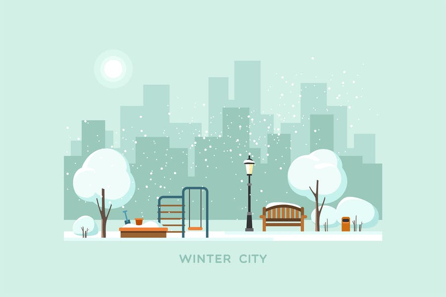 Winter in City