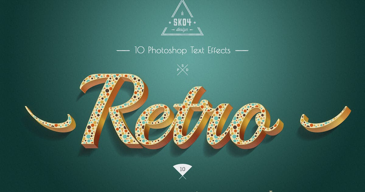 Download Retro Colorful Text Effects - 10 PSD by Sko4