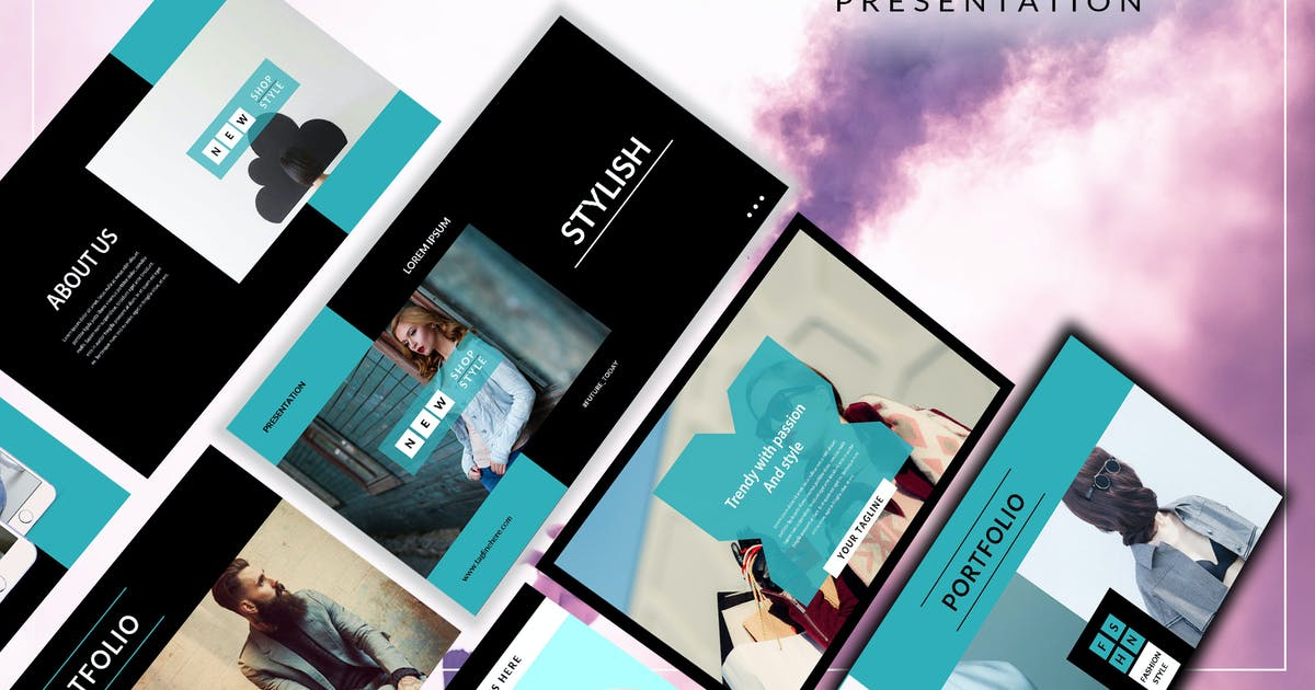 Download Stylish Elegant Dark Powerpoint Template by putra_khan