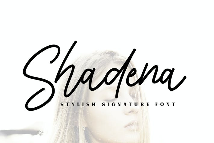 Cover Image For Shadena Signature Font