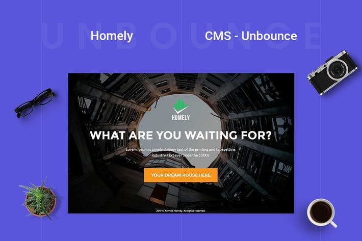 Thumbnail for Homely - CMS Real Estate Unbounce Modèle