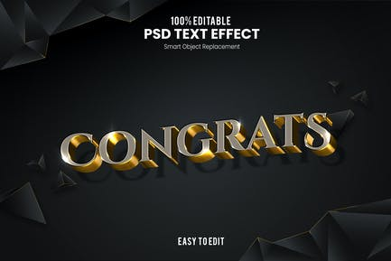 Congrats-3D Text Effect
