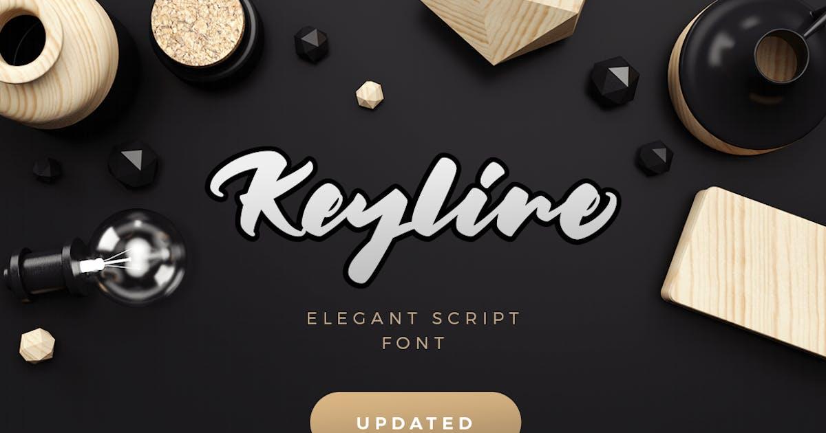 Keyline Script Font by Kavoon