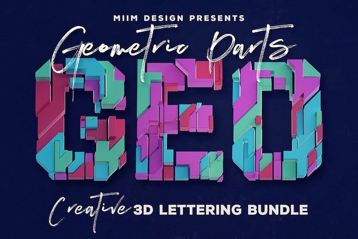 Thumbnail for Geometric Parts – 3D Lettering
