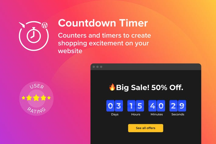 Thumbnail for WordPress Countdown Timer Plugin