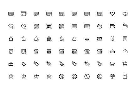Íconos de la interfaz de usuario de línea delgada Pack Pixel Perfecto