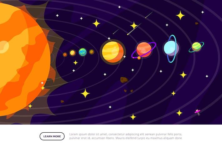 Sonnensystem - Weltraum-Illustrations-S