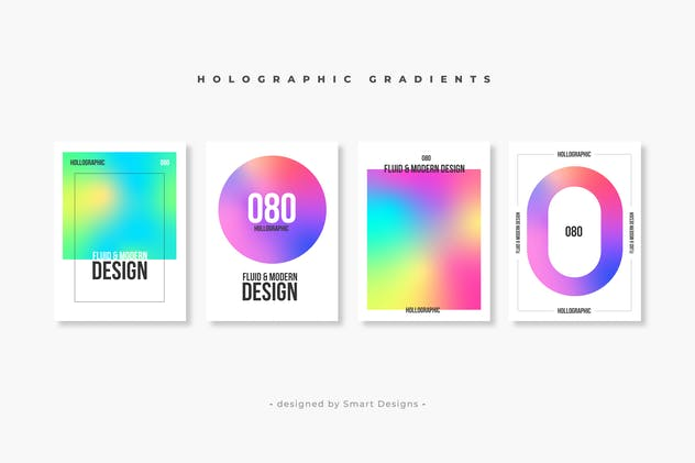 Holographic Gradients Pack X10