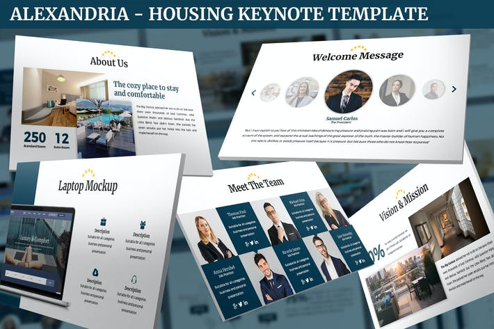 Cover Image For Alexandria - Housing Keynote Template