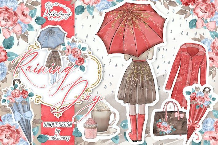 Thumbnail for Raining Day Pumpkin design