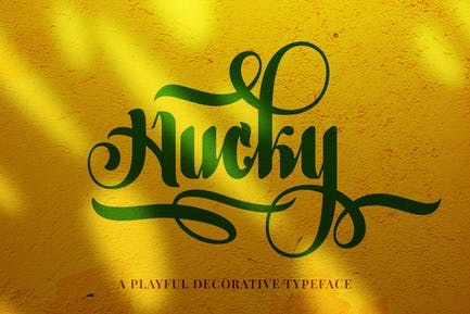Hucky — Fuente de escritura decorativa