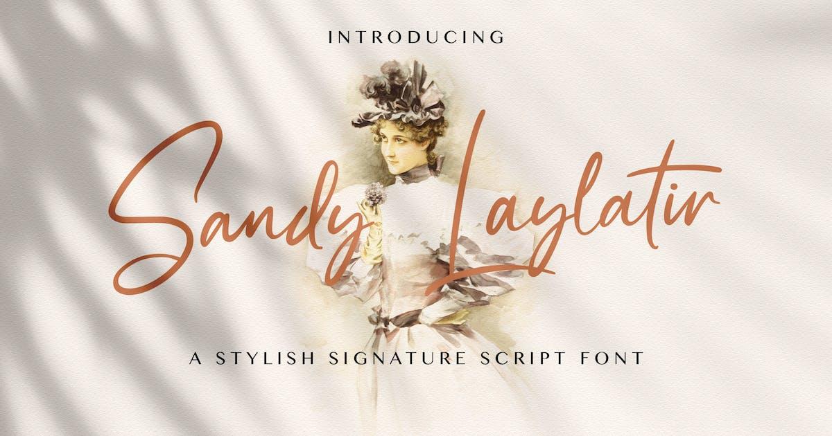 Download Sandy Lailyatir - Handwritten Font by StringLabs