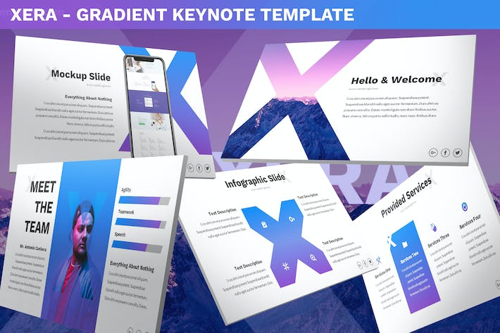 Thumbnail for Xera - Gradient Keynote Template