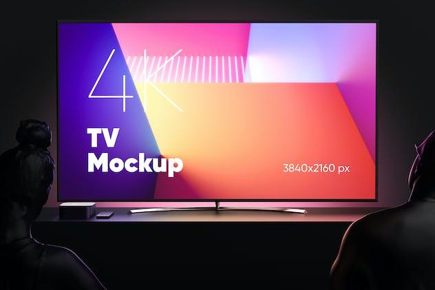 TV (Night Version) Mockup