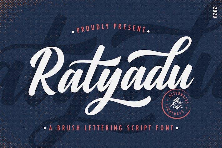 Thumbnail for Ratyadu - Fuente de escritura vintage y retro negrita