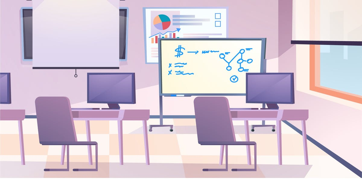Download Classroom Interior - Illustration Background by DesignSells