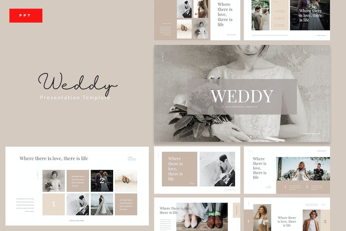 Thumbnail for Weddy - Creative Wedding Powerpoint Template