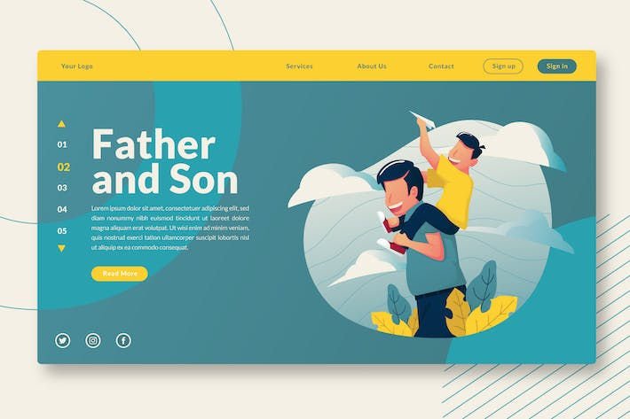 Thumbnail for Father and Son - Landing-Page GR