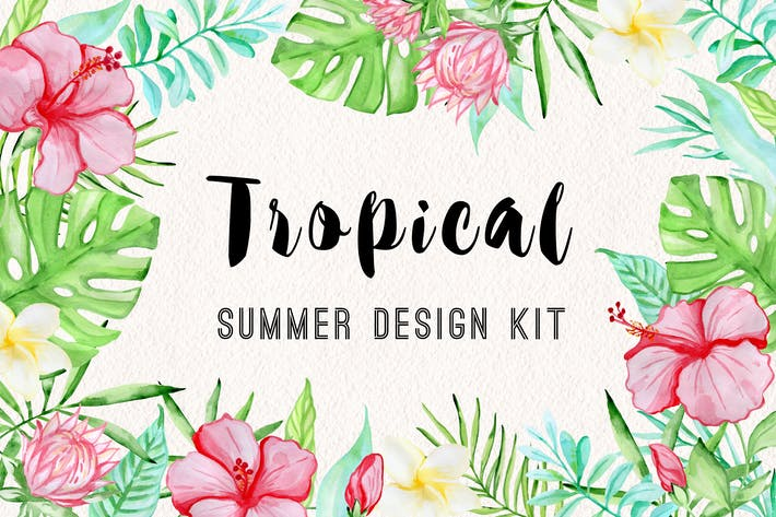 Cover Image For Tropical Summer Design Kit
