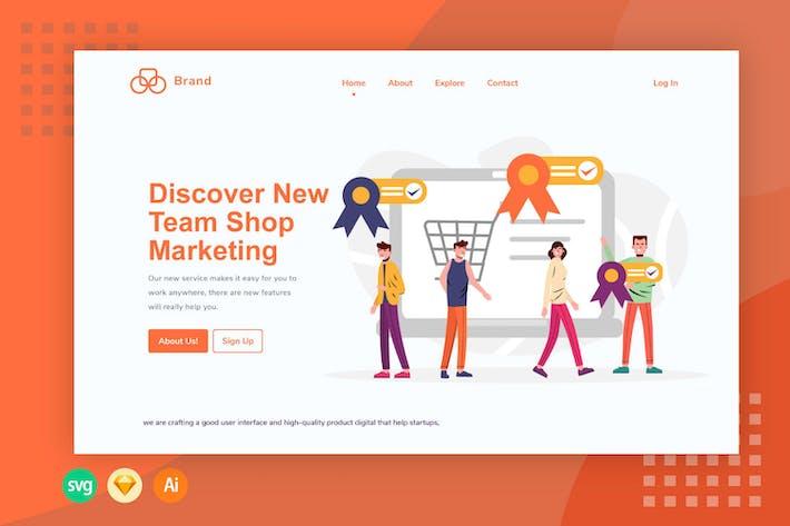 Überprüfung der E-Commerce-Bewertung - Illustration-Web-Header