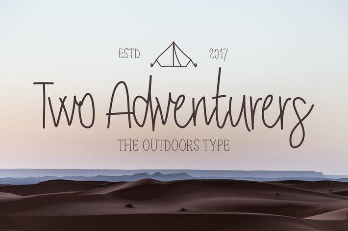 Thumbnail for Two Adventurers Font