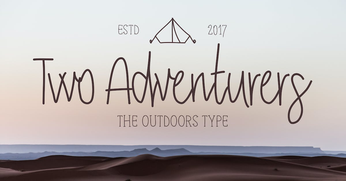 Download Two Adventurers Font by Zeppelin_Graphics