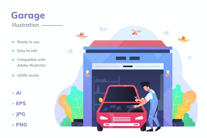 Thumbnail for Garage Illustration