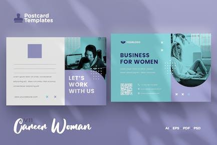 Postcard Template Vol.11 Career Woman