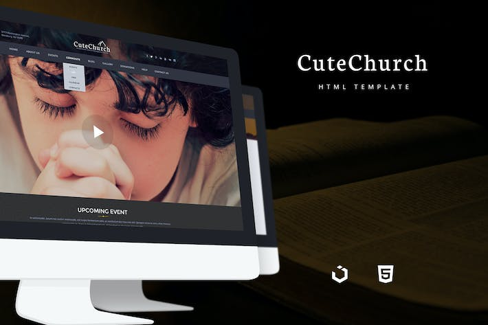 Cover Image For CuteChurch — Religion Responsive HTML Theme