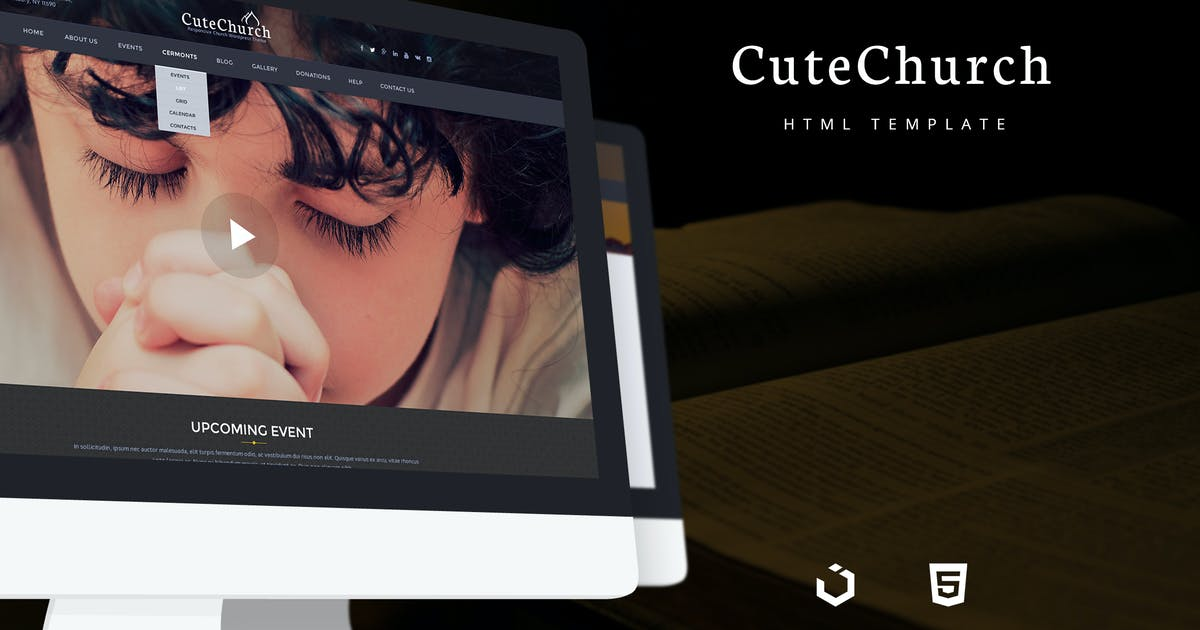 Download CuteChurch — Religion Responsive HTML Theme by torbara