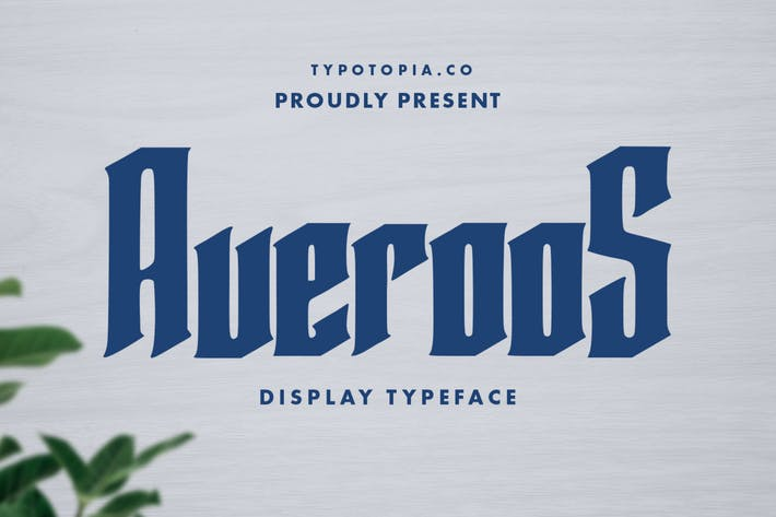 Averoos Display Font