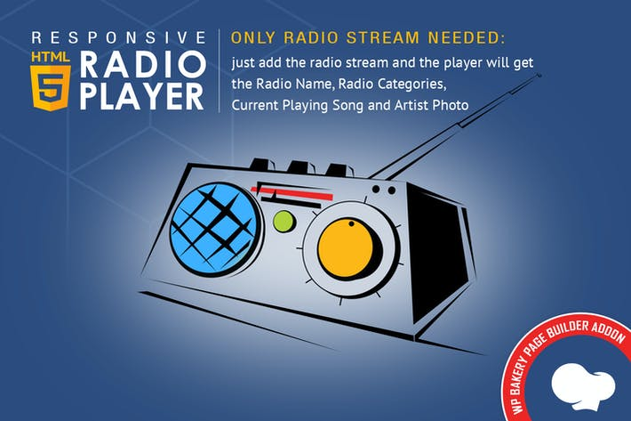 Thumbnail for Visual Composer Addon - HTML5 Radio Player