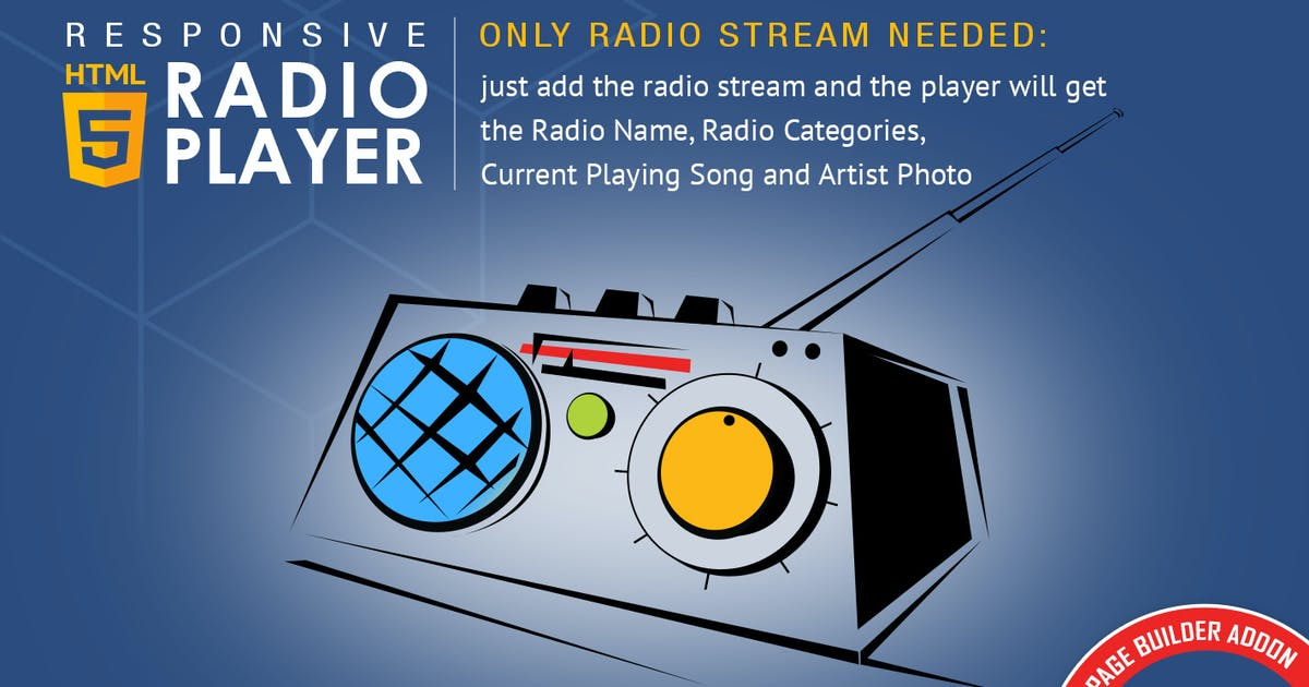 Download Visual Composer Addon - HTML5 Radio Player by LambertGroup