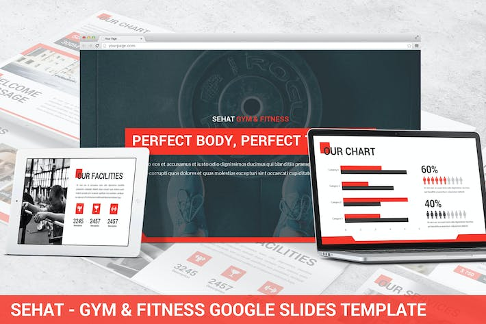 Thumbnail for Sehat - Strong Google Slides Template