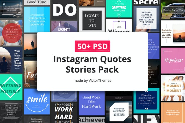 Ultimate Instagram Quotes Stories Pack by VictorThemes on