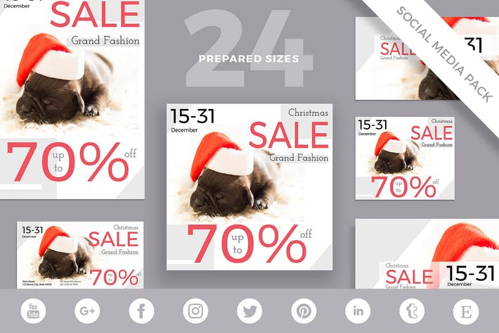 Christmas Sale Social Media Pack Template