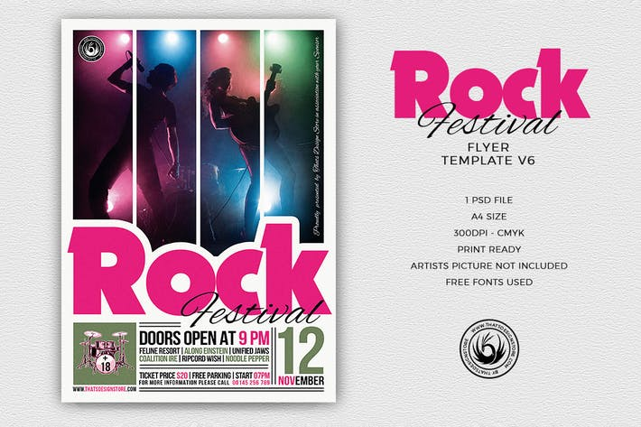 Thumbnail for Rock Festival Flyer Template V6