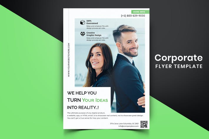 Thumbnail for Corporate Flyer Template-10