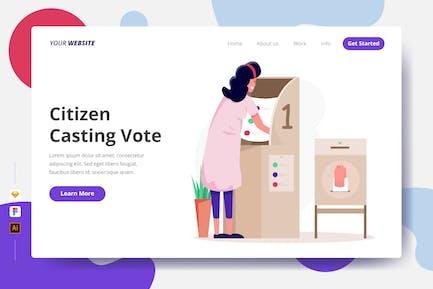 Citizen Casting Vote - Landing Page