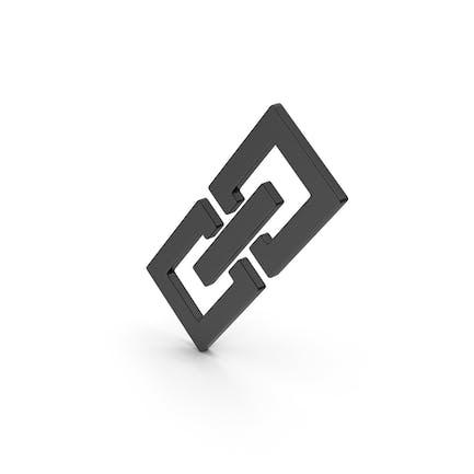 Symbol Gliederkette Schwarz