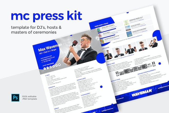 Thumbnail for Press Kit for Master of Ceremonies MC / Host / DJ