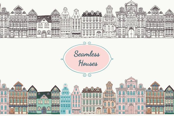 Thumbnail for Juego de casas coloridas, negras, blancas y de tiza.
